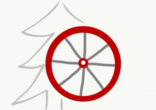 Weihnachten Rad