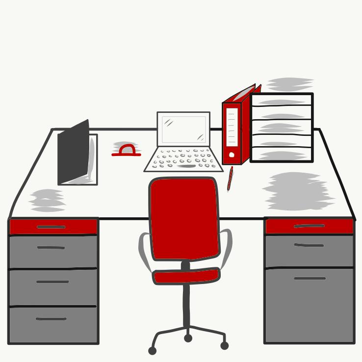 Ordnung Schreibtisch